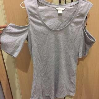 H&M Off Shoulders Top - Grey