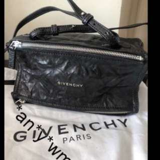 Givenchy Pandora Mini Bag In Aged Leather