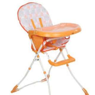 Appetising Orange High Chair