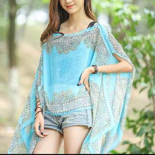 Gorgeous ladies sheer kaftan