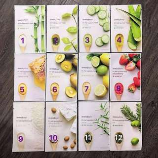 Buy 10 Free 1 Innisfree It's Real Squeeze Masks