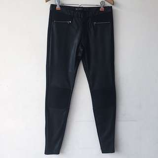 Zara Combined Leather jeggings