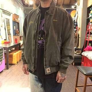 日本古著 Carhartt 灰綠厚磅工作夾克