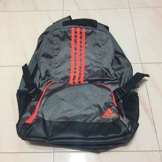 Adidas Backpack in Grey/Orange