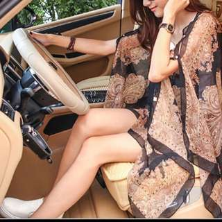 Ladies sheer kaftan