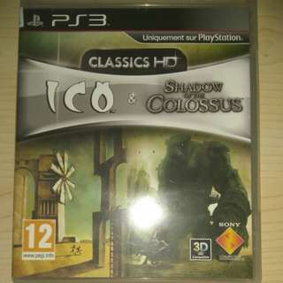 PS3 Ico and Shadow of the Colossus HD collection