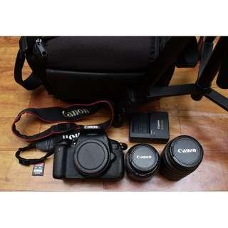 Canon 650D Fullset with 2 Lens