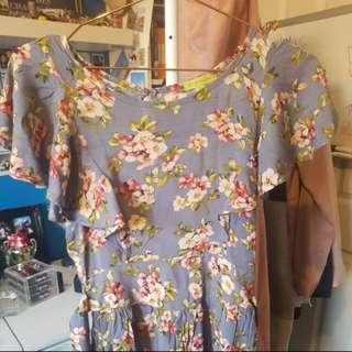 Blue floral dress size 8
