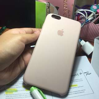 Apple silicone case sand pink iPhone 6/s plus
