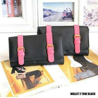 Wallet 2 tone black