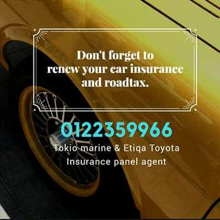 We do car insurance renewal too especially Toyota