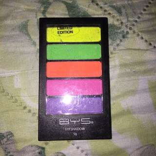 Authentic BYS Limited Edition Neons Eyeshadow Palette