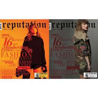 Taylor Swift Reputation Magazine and CD