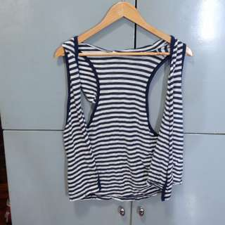 Stripe Navy and White Cover-up
