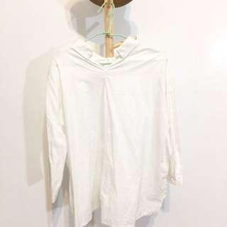 🚚 寬版白襯衫
