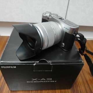 【出售】富士 Fujifilm X-A3 + 16-50MM 微單眼相機 恆昶公司貨 盒裝完整 9.5成新