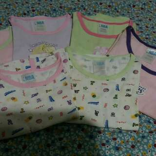 ALL 6pcs Baby T-Shirts (6-9 mos)