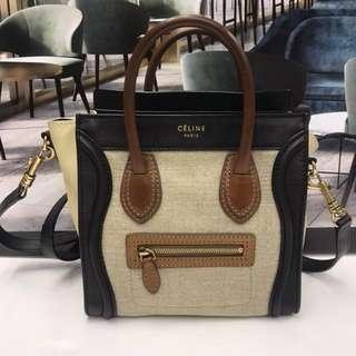 Celine Nano Canvas Luggage Bag