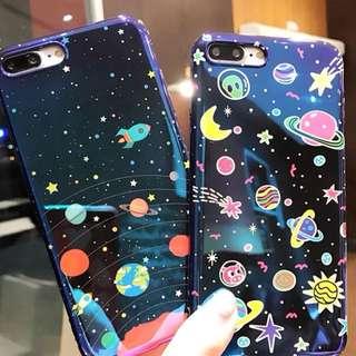 iPhone case 電話殼 手機套 夜空太空幻彩6/6p/7/7p/8/8p/x