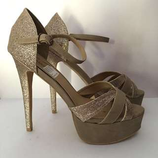 Gold Lipstick Heels