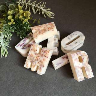 Handmade Scented Soy Wax Letters Home Decor Personalised Gift