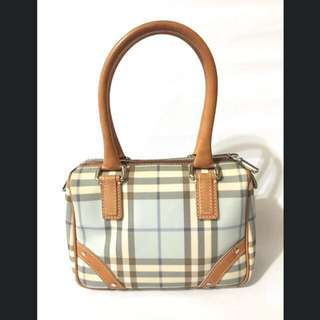 Authentic Burberry blue label Nova Plaid Satchel