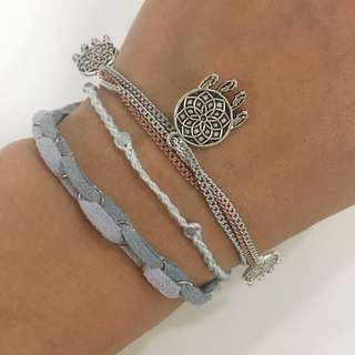 Pastel Dreams bracelet/anklet set