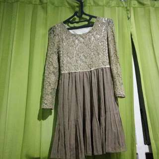 Brown Flare Dress