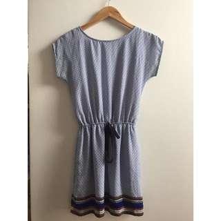 Blue Garterized Dress