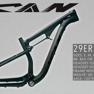 ICAN Full Suspension 29er Frame