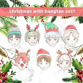 bts christmas stickers - full set