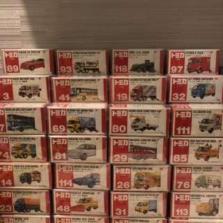 tomica tomy 車仔 日本製 日本制 紅白盒 絕版 靚盒
