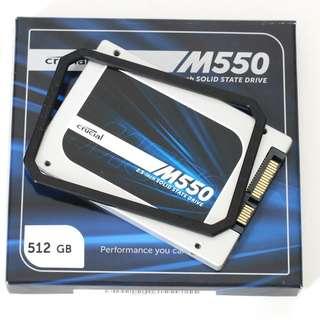 (USED) CRUCIAL M550 512GB SSD