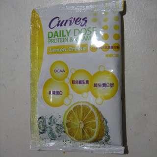 可爾姿 curves 乳清蛋白 檸檬口味