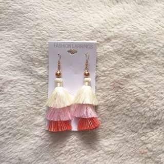 Ombré boho tassel earrings