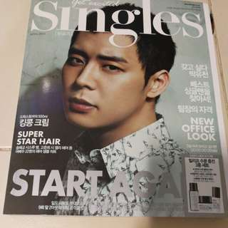 Singles April 2013 Park Yoochun