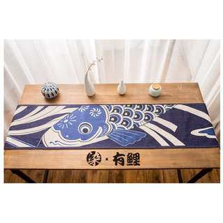 Japan Fish Ukiyo-e Table Runner, 日式鯉魚浮世繪桌旗