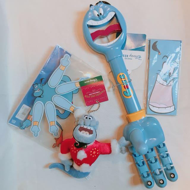 2006 東京迪士尼 聖誕 神燈精靈  阿拉丁 變裝 玩具 公仔 吊飾 便條紙