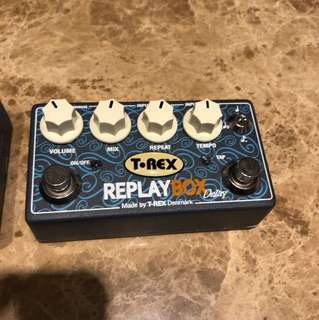 T-Rex replay box delay with tap tempo
