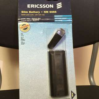 Ericsson Slim Battery NM 6066 NiMH 650 mAh, with belt clip.