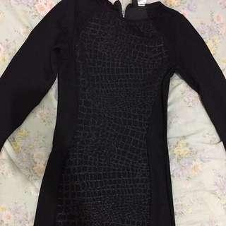 H&M black Bodycon Dress S-M