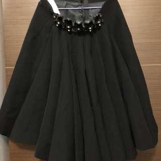 CDG Noir Kei Ninomiya 黑色及膝裙