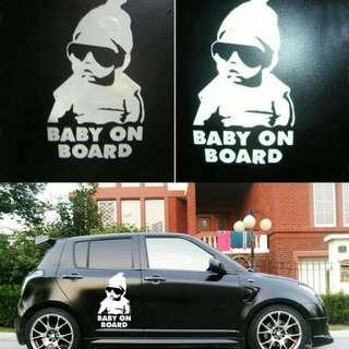 ✔ In Stock  Hot Sale Baby On Board Car Vinyl Sticker