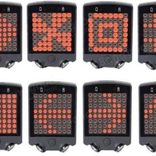 Ebike / escooter/ 🚲 bike 🚴 🛴 - Tail light / remote - led lights shows left turn/ right turn / ahead with laser at the side. Must get this item.