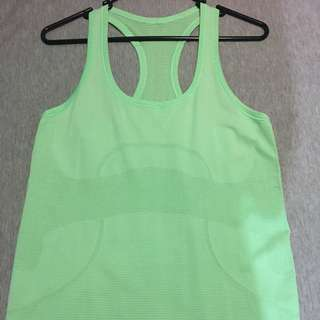 Lululemon Green Swiftly Tank AUS Size 12