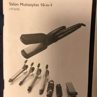 10-in-1 Philips multi hair styler