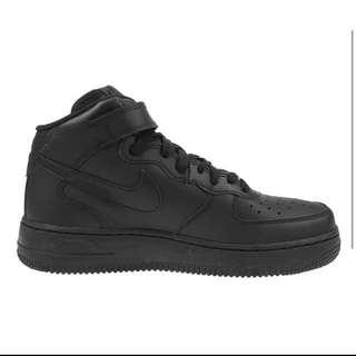 Nike black air forces