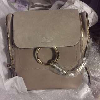 Chloe grey small backpack 全新