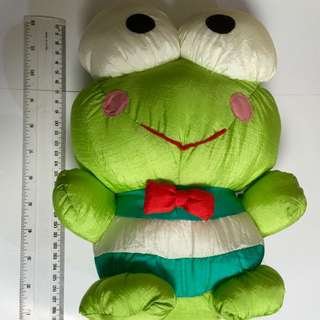 Vintage 1988 Sanrio Keroppi Nylon Plush Pillow Doll