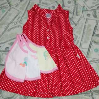 Repriced Branded SO-EN Dress with FREE 3pcs. Bib